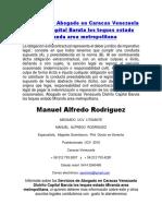 Abogado Caracas Venezuela Distrito Capital Baruta los Teques estado Miranda area metropolitana