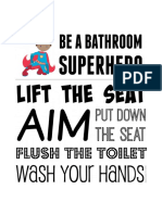 Bathroom Superhero