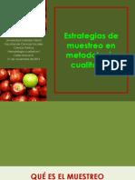 UGM Metodología Cualitativa I Diseño Muestral