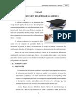 La Introducción Del Informe Académico