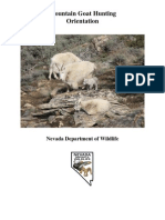 Mountain Goat Hunting Orientation