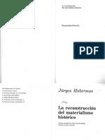 Habermas, Jurgen. La Reconstruccion Del Materialismo Historico