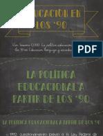 Educación en Los '90