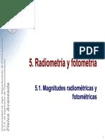 Radiometria y Fotométrica