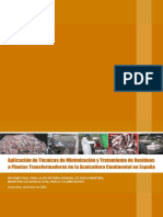 Aplicacion de Tecnicas de Minimizacion y Tratamiento de Residuos a Plantas Transformadoras de la Acuicultura Continental en Espan;a