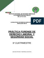 Pràctica Forensee de Derecho Laboral y Seguridad Social