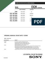 Manual de Servicio KDL-26L5000