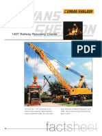 Cowans Sheldon 140t Recovery Cranes Factsheet indian railway