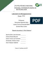Reporte Filtro Rotatorio