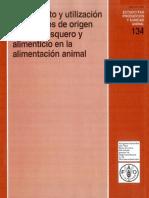 Tratamiento y utilizacion de residuos de origen animal, pesquero y alimenticio en la alimentacion animal