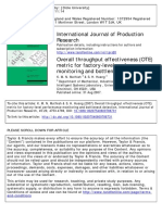 Muthiah2007 Overall Throughput Effectiveness (OTE) Metric for Factory-level Performance Monitoring and Bottleneck Detection (1)