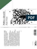 Freire Paulo - Politica Y Educacion.pdf