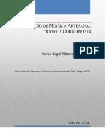 Ficha y Plan de Manejo Ambiental Del Permiso Artesanal Denominado Rayo