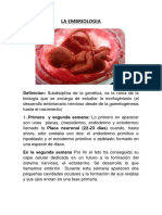 La Embriologia