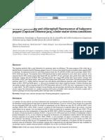 Crecimiento, fenología y fluorescencia de la clorofila del chile habanero (Capsicum chinense Jacq.) bajo condiciones de estrés hídrico
