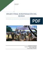 Ensayo Final Europeización Del Mundo (Lía Contreras Cuminao)