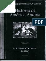 Historia de América Andina El Sistema Colonial