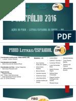 Portfólio - PIBID/Espanhol 2016
