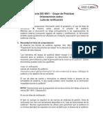 Auditoría ISO 9001 Listas de Chequeo