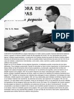 Dobladora de Chapas Para Taller Pequeño_Mi Mecánica Popular 1955