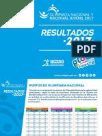 Resultados Guanajuato Olimpiada Nacional 2017