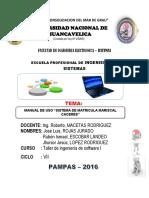 Manual de Uso de Sistema de Matricula