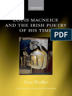 Walker MacNeice and the Irish Poetry of His Time
