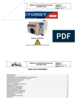 M-21 Manual de Usuario Autoclave Automat 3000