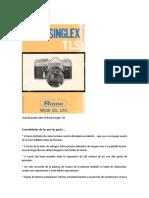 Guía Ilustrada Sobre Ela Cámara Ricoh Singlex TLS -Sears TLS
