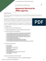 Normas Del Reglamento Nacional de Edificaciones (RNE) Vigentes