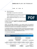 Modelo de Informe de Plan de Trabajo Ppp 2017 1