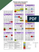2010-2011 Dade Schools' Calendar