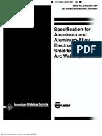 AWS 5.3 Aluminio