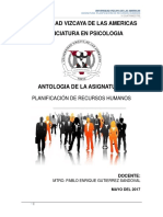 Antologia Planificación de Recursos Humanos