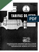 Tarifas de Agua 41738