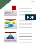 Motivation & Behavior