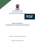 2017 Manual Curso Virtual Módulo 2 MAEU