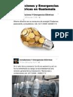 Instalaciones y Emergencias Eléctricas en Guatemala