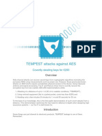 Tempest Attacks Against AES