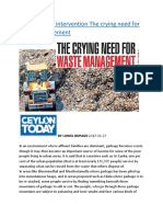 Holistic social intervention The crying need for waste management.docx