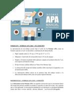 Normas APA 2016 - Resumen