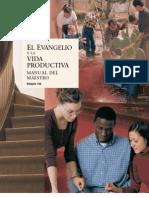 El Evangelio y La Vida Productiva - Manual Del Maestro