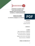Trabajo de Campo Psicologia Educacional - Bachillerato Villa Crespo