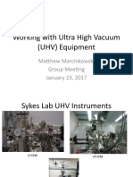 Working With Ultra High Vacuum (UHV)