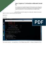 Clonar Un Sitio Web Para Capturar Credenciales Con Website Attack Vector