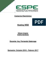 Tutorial Hosting Web Crisanto Gavilanes