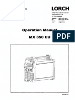 Lorch, MX350 EU, Operation Manual