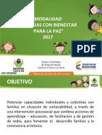 Presentación Modalidad Familias PLAN ICBF - MUNICIPIOS
