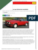 10 Carros Brasileiros Que Deixaram Saudades _ Quatro Rodas