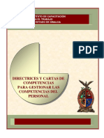 Directrices y Cartas de Competencias